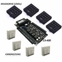 ZK C3-400 Tcp/Ip の Rfid アクセス制御システム 4 ドアセキュリティコントローラ IP ベースの 4 ドアコントローラ KR102 キーパッドリーダー