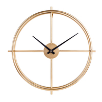 Hot 50cm Retro Iron Art Clock Simple Mute Wall Clocks For Home Decor Hanging Clock Home Decoration New Arrival Golden