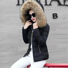 100% true Raccoon fur collar 2018 New Fashion Winter Jacket Women Parkas Warm Down Female outerwear Coat