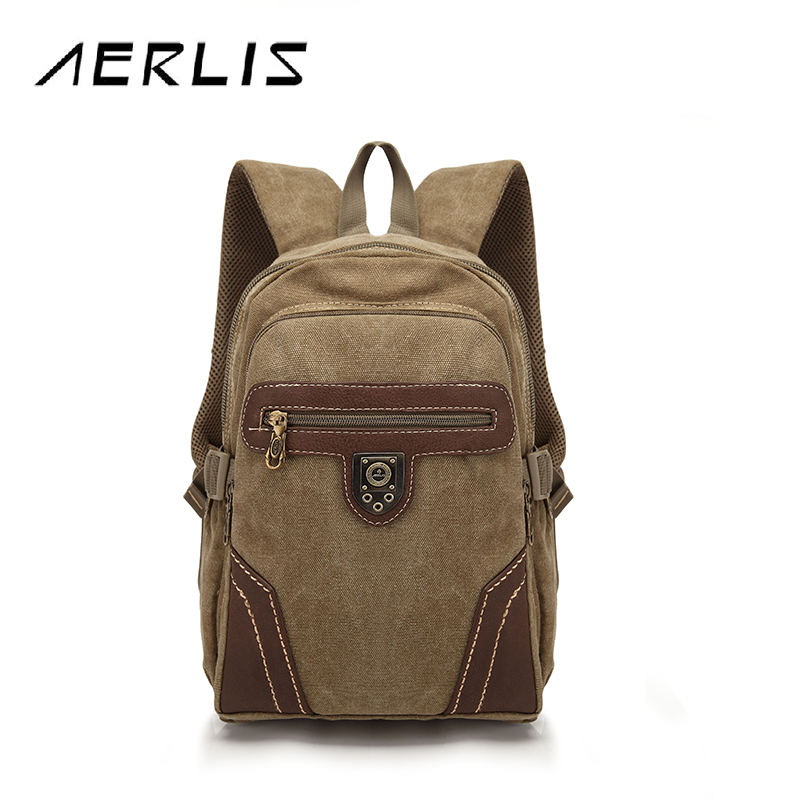 AERLIS Fashion Men Women Canvas Backpack School Bag Travel Lovers Backpacks Backbag 2016 New Free Shipping