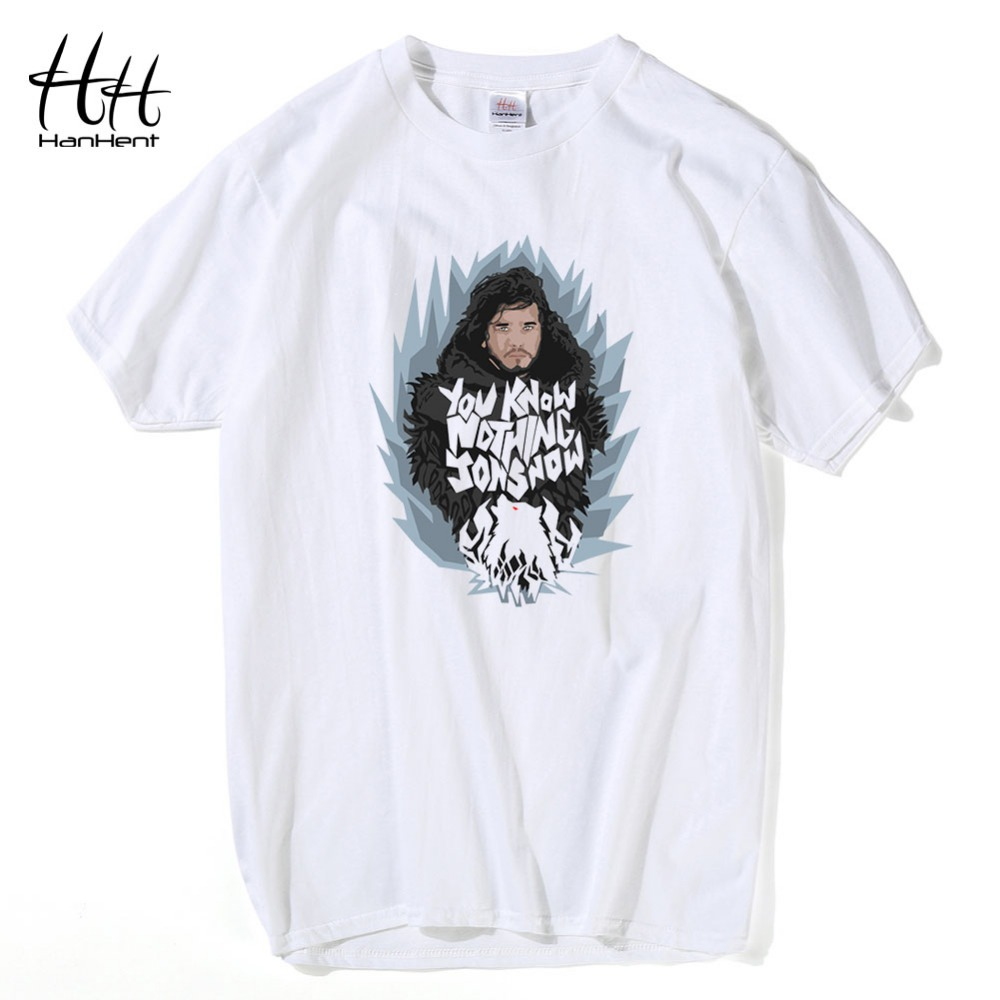 Indian Clothing Store HANHENT HH Cotton O-Neck White Men T Shirt