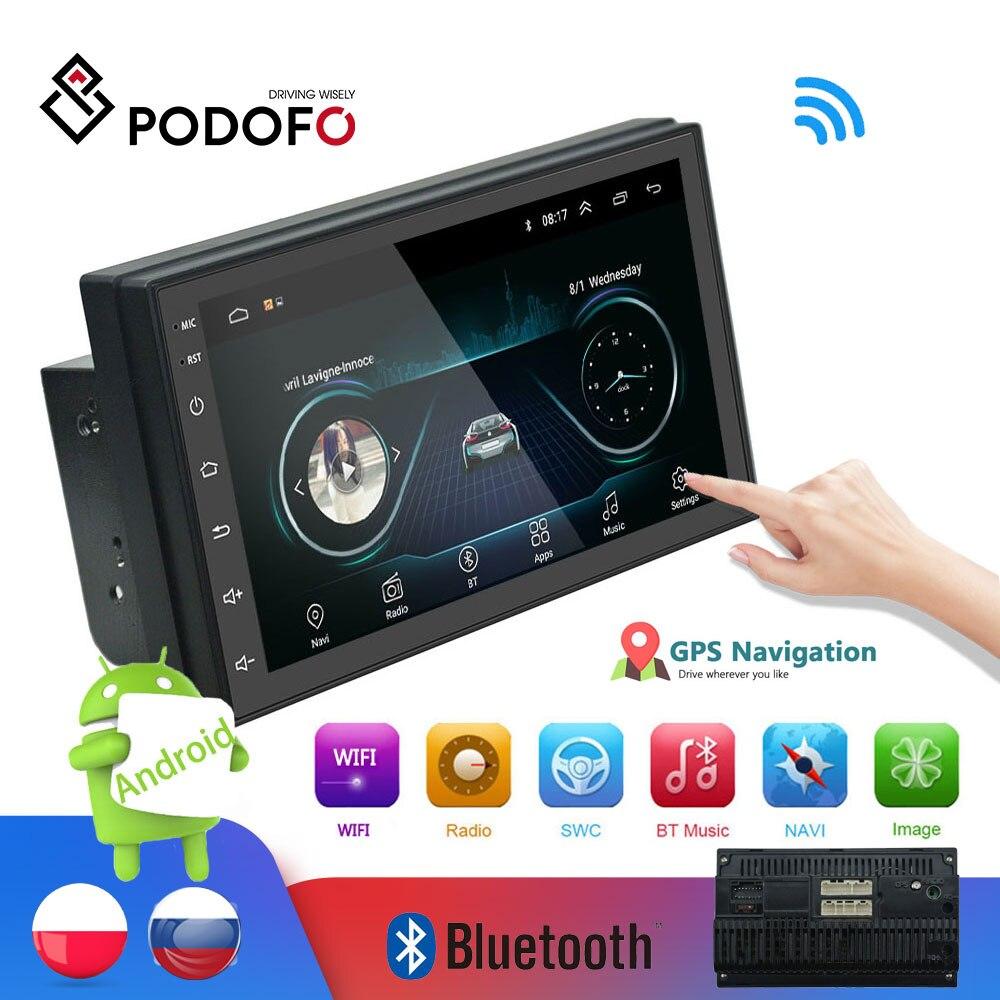 Autoradio Podofo 2din lecteur multimédia Android Autoradio 2 Din 7 ''ecran tactile GPS WIFI Bluetooth FM lecteur audio auto stéréo