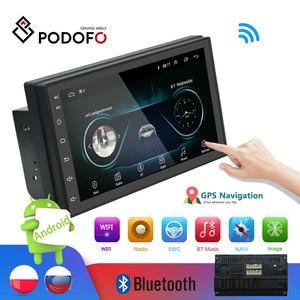 Система мультимедийная автомобильная Podofo, 2DIN, 7'' LCD сенсорный дисплей,Bluetooth, навигация gps, FM-радио, WIFI