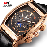 Mechanical Watches Men Waterproof Business Male Wrist Watch Automatic TEVISE Square clock Relogio Automatico Masculino Gift Box Mechanical Watches     -