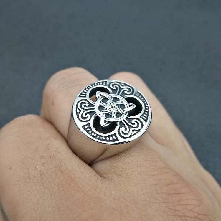 US 7 до 15 Размер Европейский этнический стиль ирландский концентрический узел титановая сталь кольца в стиле панк, рок вечерние ювелирные изделия для мужчин