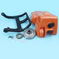 Top Engine Cylinder Cover Clutch Drum Handle Guard For Stihl 017 018 MS170 MS180 Chainsaw Chain Brake Felling Dog Sprocket Rim