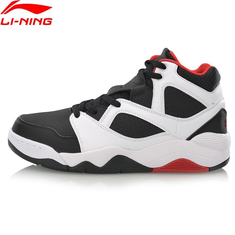 Li Ning Men RETRO 90 Basketball Culture Shoes Wearable Anti Slippery Medium Cut LiNing Sport Shoes