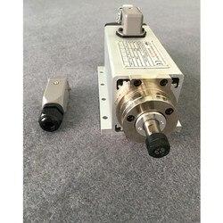 CNC wrzeciona 1.5KW chłodzony powietrzem wrzeciona obrabiarki silnika 220 V 110 V CNC plac frezarka narzędzia do grawerowania