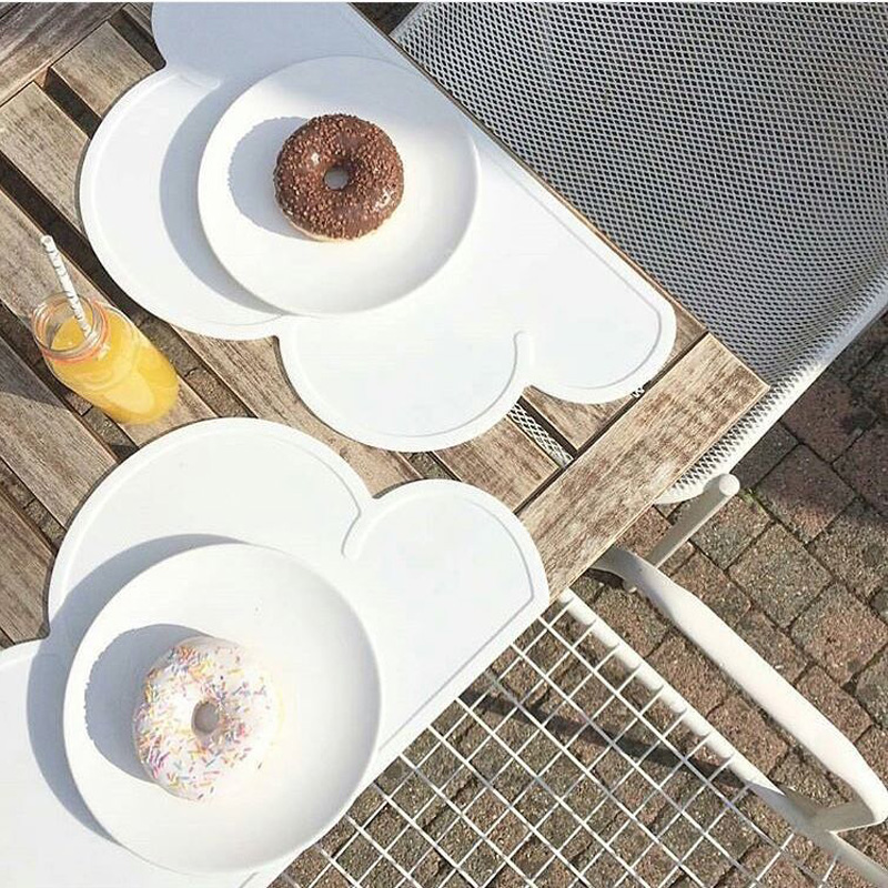 Fashion Design Letters Safety Melamine Baby Fedding Dinner Plates Children Dinnerware cloud placemat fr20-in Dishes from Mother \u0026 Kids on Aliexpress.com ... & Fashion Design Letters Safety Melamine Baby Fedding Dinner Plates ...