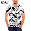FORUDESIGNS Fitness Men's Summer Casual T-shirt Crossfit Tops 3D Light Designs Man Brand Clothing Breathable T shirt  Off White