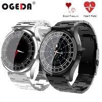 OGEDA Men Smart Watch Heart Rate Blood Pressure Sleep Monitor Watch Stainless Steel Fitness Tracker IP67 Waterproof Smart Watch