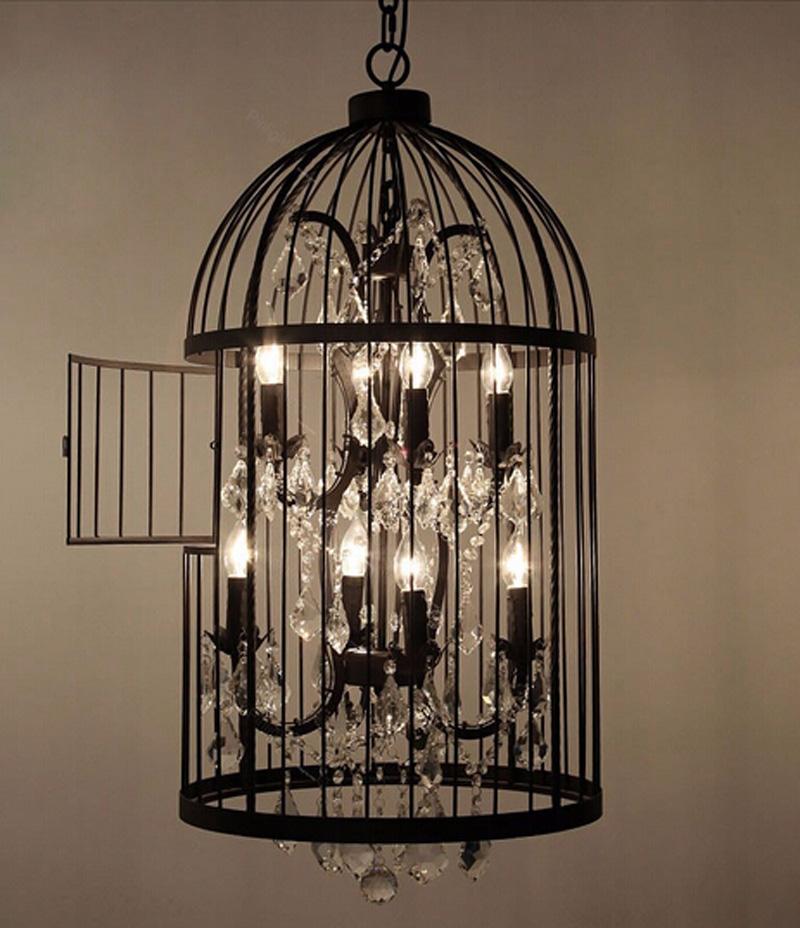 Retro-Lamparas-Black-Decor-American-Vintage-Industrial-Bird-Cage-Pendant-Light-With-Crystal-Ornaments-Nordic-Birdcage117