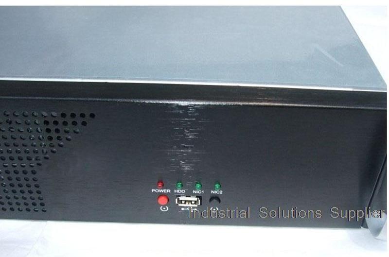 NEW Short 2u computer case 2u industrial computer case 2u server firewall computer case 3 fan aluminum panel цены онлайн