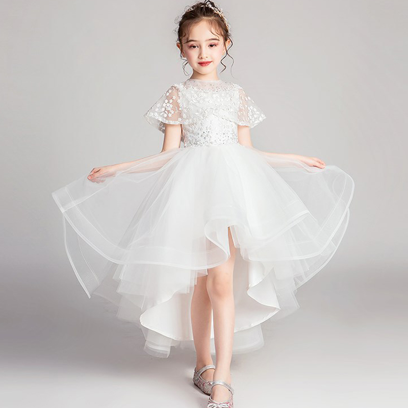 Image 5 - High Quality Lace Appliques Beading Ball Gowns Beading Length Pageant First Communion girls formal wedding party dress-in Flower Girl Dresses from Weddings & Events