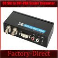 3G SDI to DVI converter Scaler with SDI loop out&L/R audio