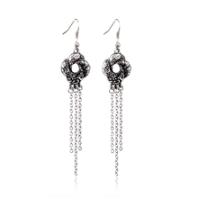 Fashion Jewelry Bond Girl Jewelry Algerian Love Knot Silver Plated Drop Earring Chain Tassel Charms Long Earring