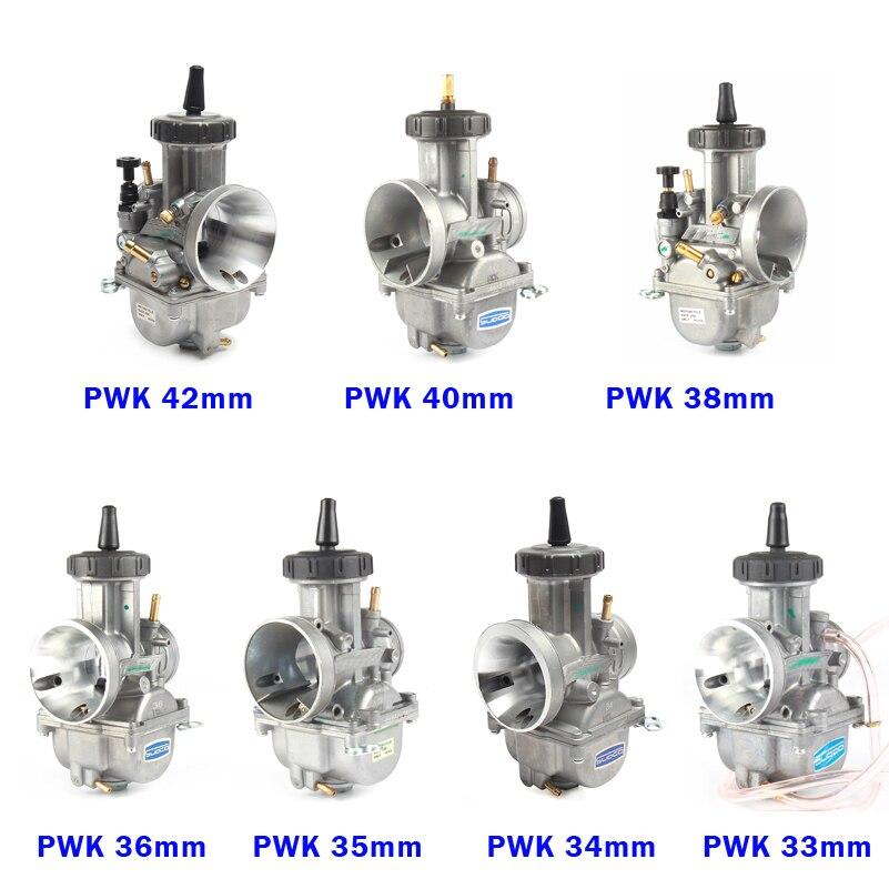 Image 5 - PWK карбюратор 33 34 35 36 38 40 42 мм гоночный карбюратор  Универсальный 2T 4T двигатель Байк для мотокросса мотоцикл Скутер ATV  QuadКарбюратор   -