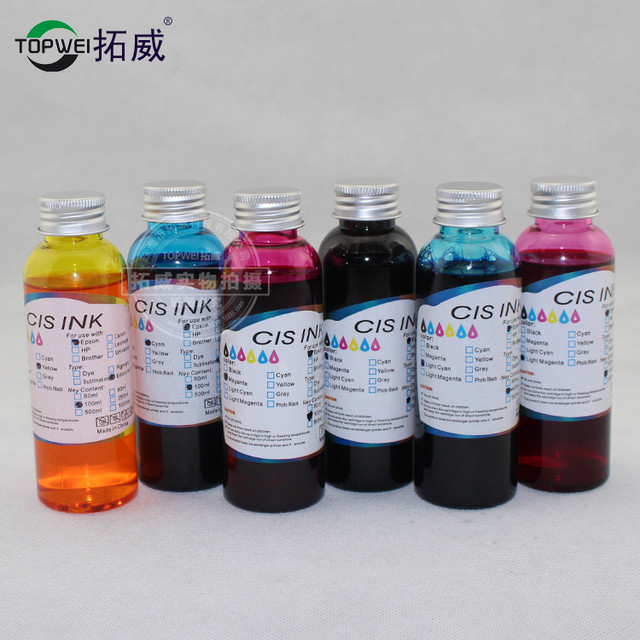 1 set 6 color 100ml universal Edible ink for Epson printer food ink ...