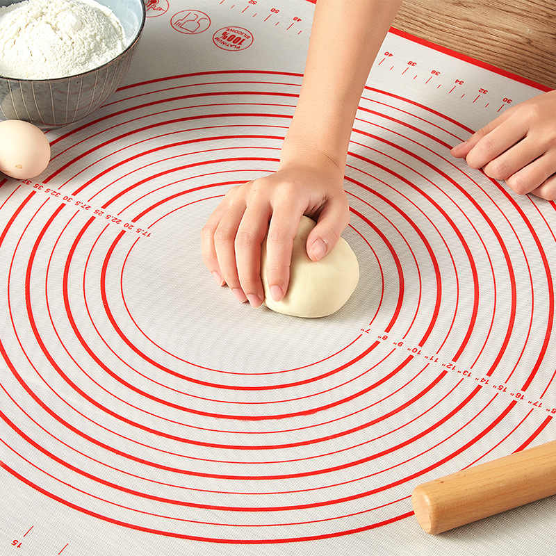 Silicone Baking Mats Non-Stick Rolling Scale Mat Pizza Dough Maker Pad Pastry Kitchen Cooking Tools Utensils Bakeware Accessory