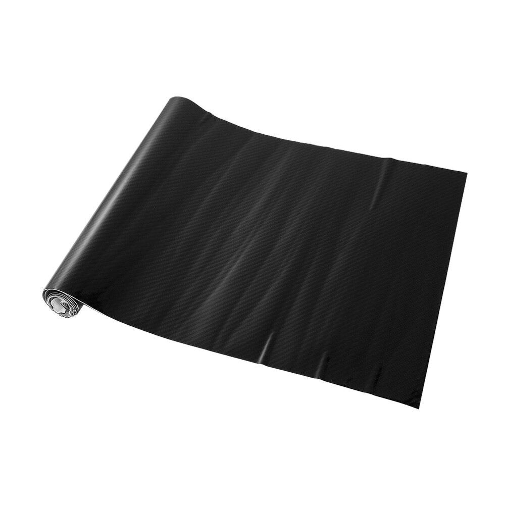 6D Shiny Gloss Glossy Black Carbon Fiber Film Wrap Vinyl Decal Car Auto Sticker