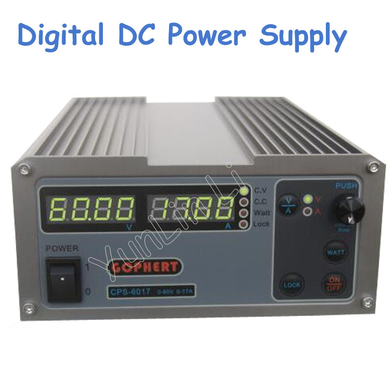 Adjustable Digital DC Power Supply CPS-6017 Updated Version 1000W 0-60V/0-17A Regulators with English Manual 220v 110v cps 3010 300w 0 30v 0 10a gopher compact digital adjustable dc power supply
