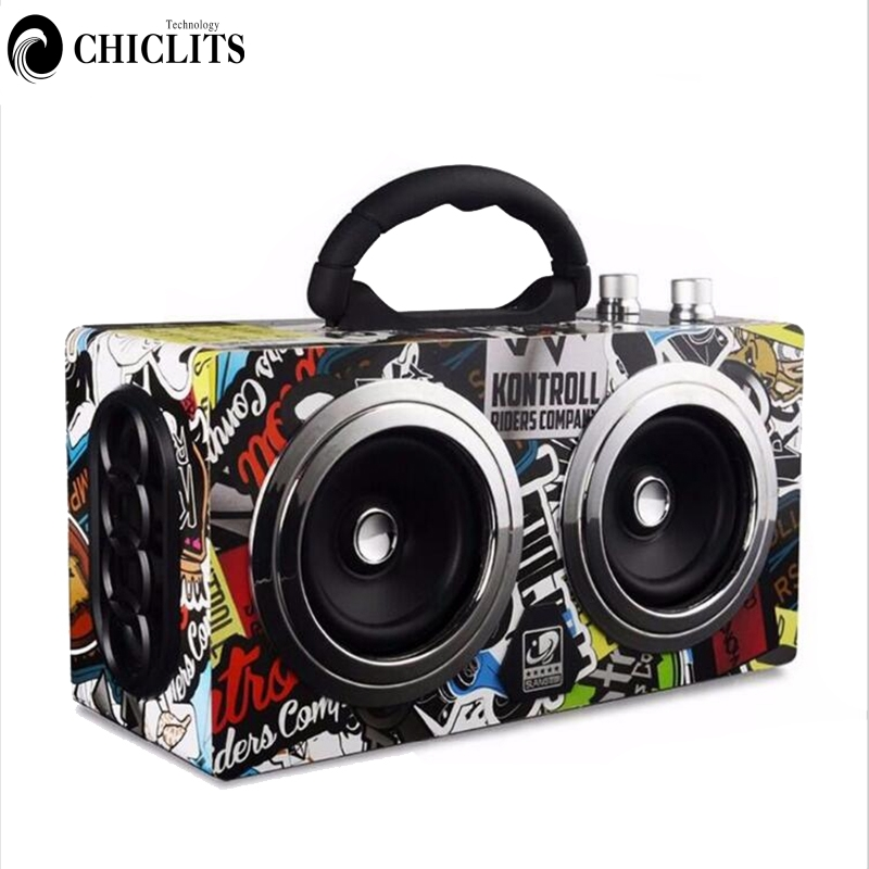 Bluetooth Speaker Wireless Outdoor Stereo Bass Sound HiFi Loudspeaker 20W High Power Speaker Support TF Card
