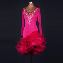 Latin Dance Dress Women New Long Sleeve Competition Dancing Costume Ladys Rumba Sumba Chacha Dresses