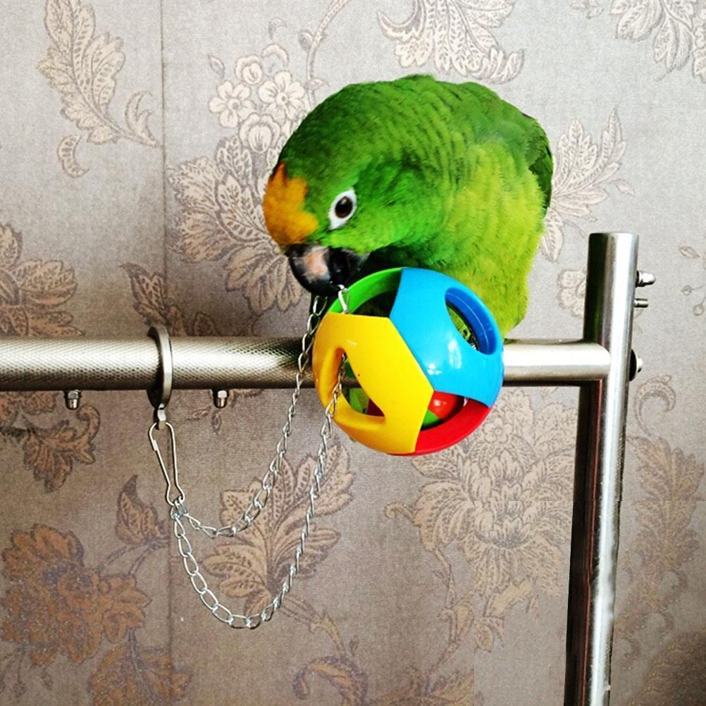 Hanging Cockatiel Parakeet  Pet Bird Bites Toy Parrot Chew Ball Toys Swing Cage