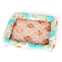 S-XL 7 Designs Ice Silk Waterproof Dog Bed Summer House For Dog Bench Lounger For Dog Beds Large Medium Large Dogs Cat Pet Mat