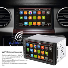 7 Inch Android 6 0 System Double DIN GPS font b Navigation b font Car MP4
