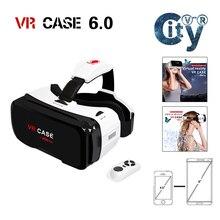 พิเศษที่ชัดเจนVRกรณีRK 6thความจริงเสมือนแว่นตา3D all-in-1 VRกล่องVRกรณี6ที่มีบลูทูธควบคุมระยะไกลสำหรับios
