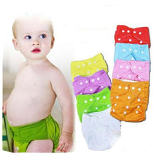3pcs Reusable Adjustable Baby Infant Nappy Cloth Diapers Soft Covers Washable Free Size Diapers christmas gift(China)