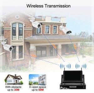 Image 2 - Système de vidéosurveillance sans fil Displayer 4CH 1080P 7 pouces, caméra IP NVR IR CUT balles, système de sécurité domestique, Kit de vidéosurveillance Yanivision