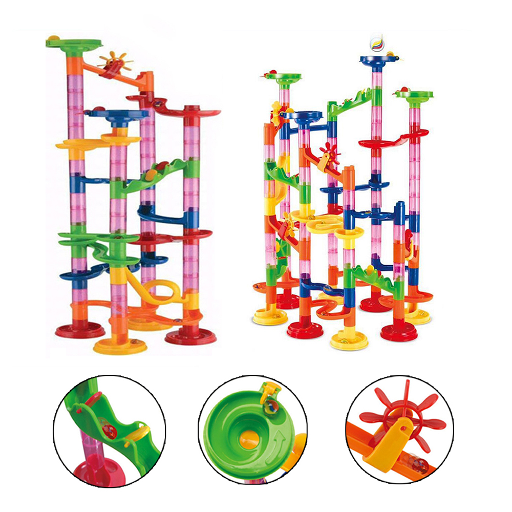 Large Marble Run Toy Set For Kids 105pcs Building Play Educational Toy Kids Gift