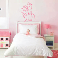 Horse Wall Decal Horse Sticker Vinyl Wall Decal Art Personalized Name Children Girls Room Wall
