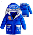 Winter boys cotton thick padded coat windbreak robot  children down coat long paragraph  free shipping