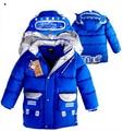 Winter boys cotton thick padded coat windbreak robot  children down coat long paragraph  free shipping