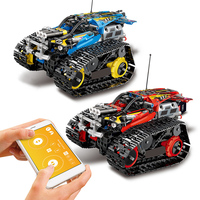 Technic RC Tracked Stunt Racer Building Blocks Fit Legoing Creator 42095 APP Remote Control Car Bricks Toys Gifts For Children