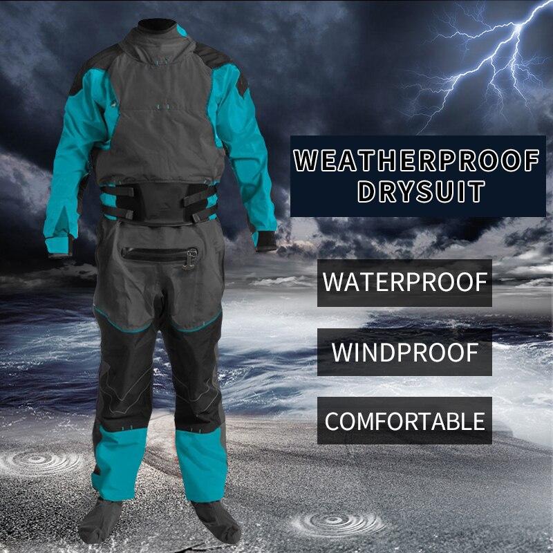 Combinaison sèche canoë pêche Kayak costume étanche étanchéité course boue combinaison de pluie pour l'expédition blanc Sport nautique ATV/UTV cavaliers