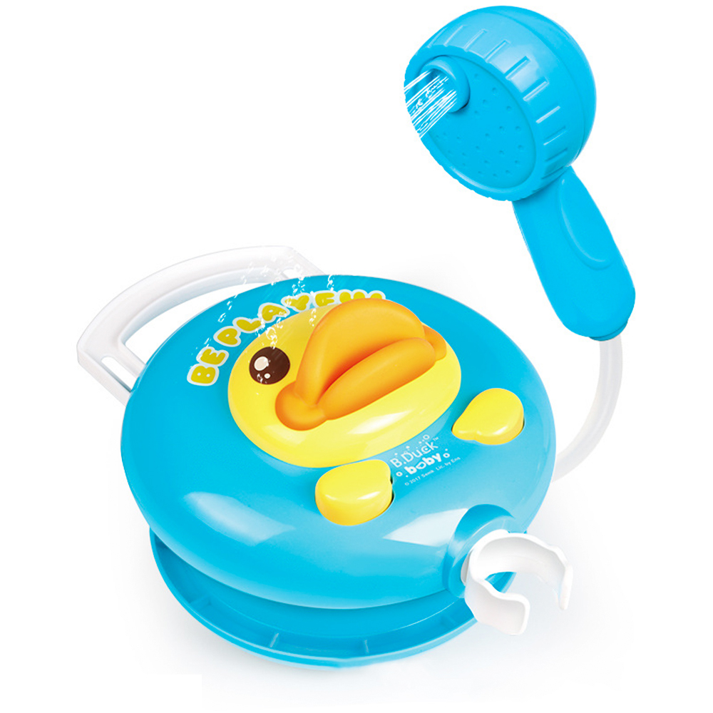 2018 Baby Bath Toy Hand Shower Head Duck Battery Operated Water Pump Bathtub Swimming Water Spray baby toys