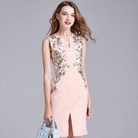 2018 Lato Nowy High-end Garnitur-sukienka Konkurencyjne Produkty Haftowane własnej uprawy Sukienka Hollow Out Upust Sexy Cheongsam