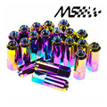 Neochrome 20PC Blox Racing JDM Style 60MM Aluminum Extended Tuner Wheel Lug Nuts Without Spike For Wheels Rims M12X1.5 BLOX