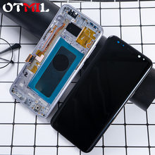 цена на Super AMOLED S8 LCD frame For SAMSUNG Galaxy S8 G950 G950F Display For SAMSUNG S8 Plus G955 G955F LCD Touch Screen Digitizer