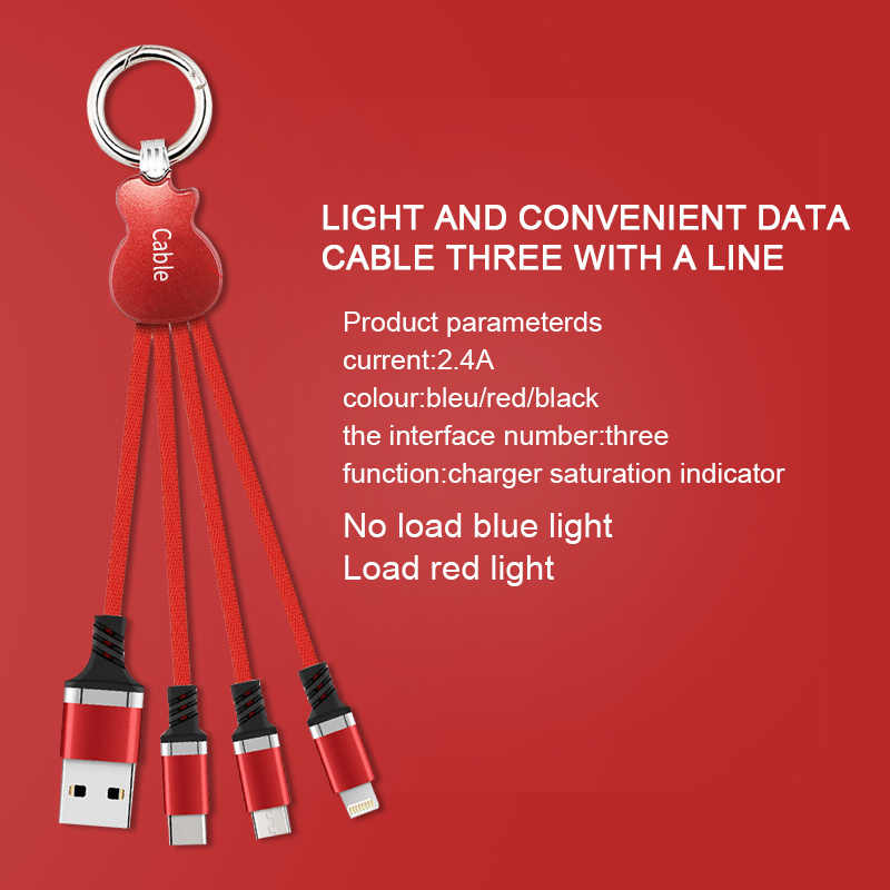 Nowy kabel USB wysokiej jakości ładowarka 3 w 1 kabel Micro USB na rodzaj USB C kabel do telefonu wsparcie szybkie ładowanie