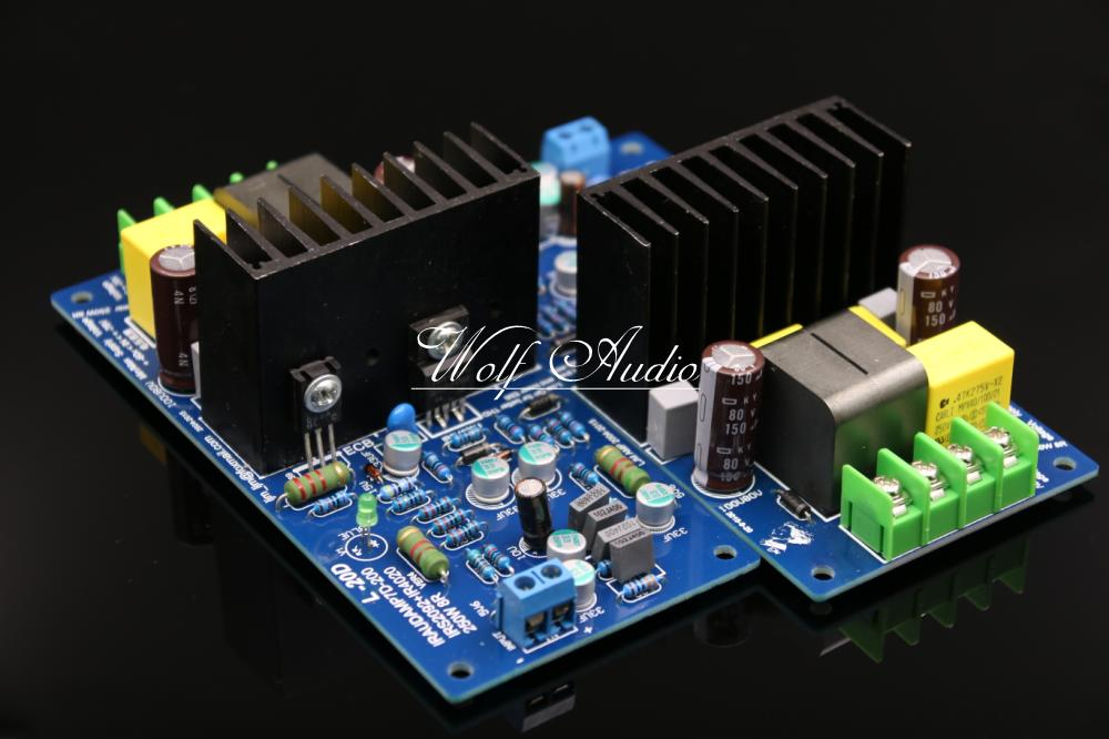 LJM Audio Assembly L20D IRAUDAMP7 IRS2092 Top Class D Amplifier Board HiFi Stereo Audio Power Amp Board
