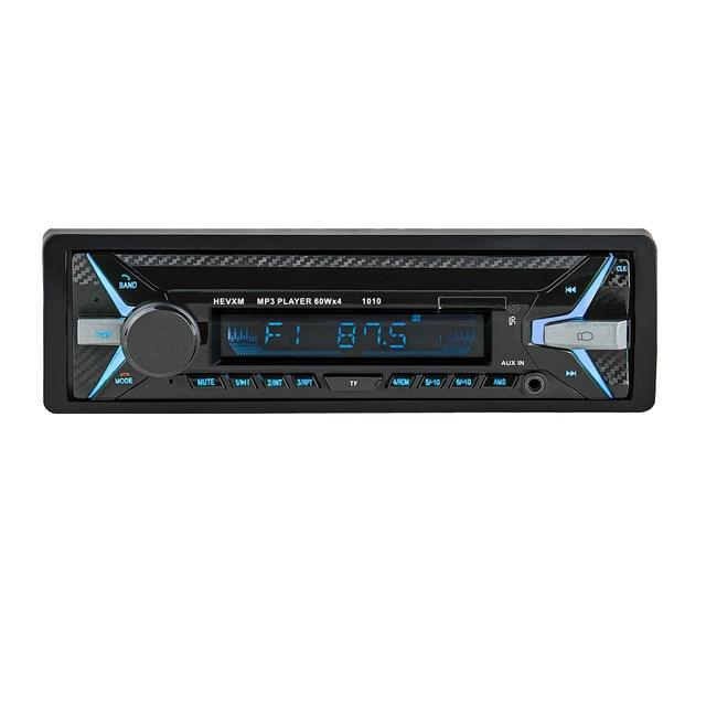1010 1Din 12 ボルト車多機能 MP3 プレーヤー、 FM ラジオ、車の音楽プレーヤー、 U ディスク再生カーオーディオブルー歯 MP3 したがって playe