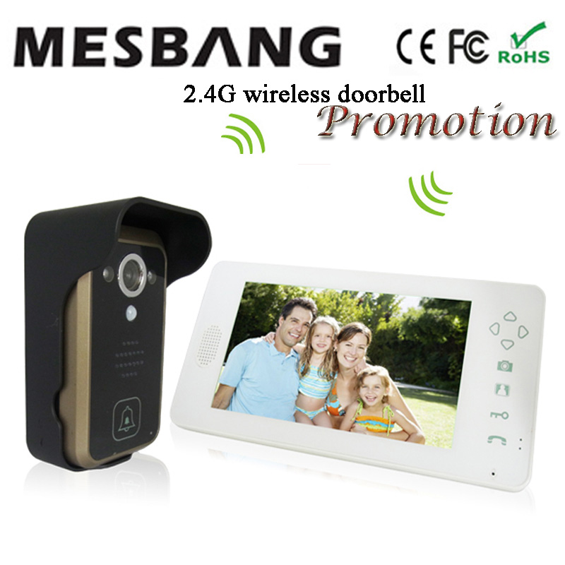 Mesbang Villa Wireless Doorbell With Camera Intercom Video Wireless Door Bell Door Phone Camera Free Shipping
