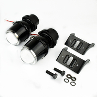 Free Shipping Car Styling Universal Halogen Fog Lights Retrofit Projector Lens Lamps H3 Halogen Bulbs Yellow