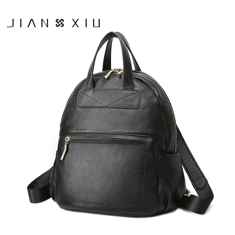 JIANXIU Genuine Leather Backpack School Bags Mochilas Bolsas Mochila Feminina Mujer Bagpack Escolar Backpacks 2017 Back Pack Bag backpack mochila feminina mochilas school bags women bag genuine leather backpacks travel bagpack mochilas mujer 2017 sac a dos