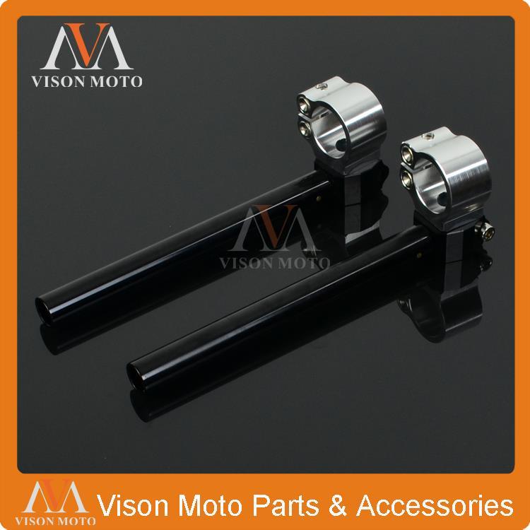 34mm Handlebars Clip Ons For Suzuki T250 TM250 TS250 T350 TM400 Cyclone T500 CNC